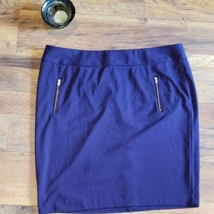 Lane Bryant Purple Midi Skirt size 22